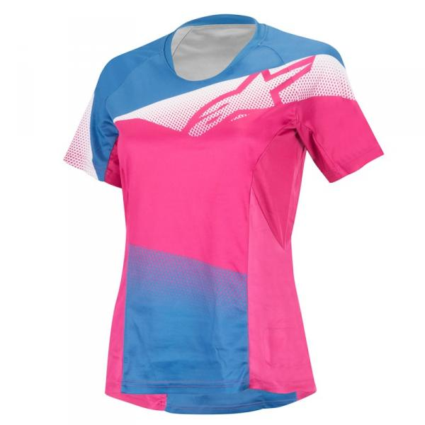 ExtremeZone Cycles Jersey Alpinestars Stella Mesa S/S Rose/Bl L